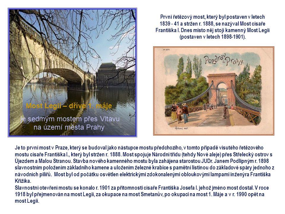Bouřlivě se rozvíjejícímu Smíchovu nestačilo spojení s Prahou jediným mostem Palackého, a tak se uvažovalo o stavbě nového mostu. Původně měl navazova