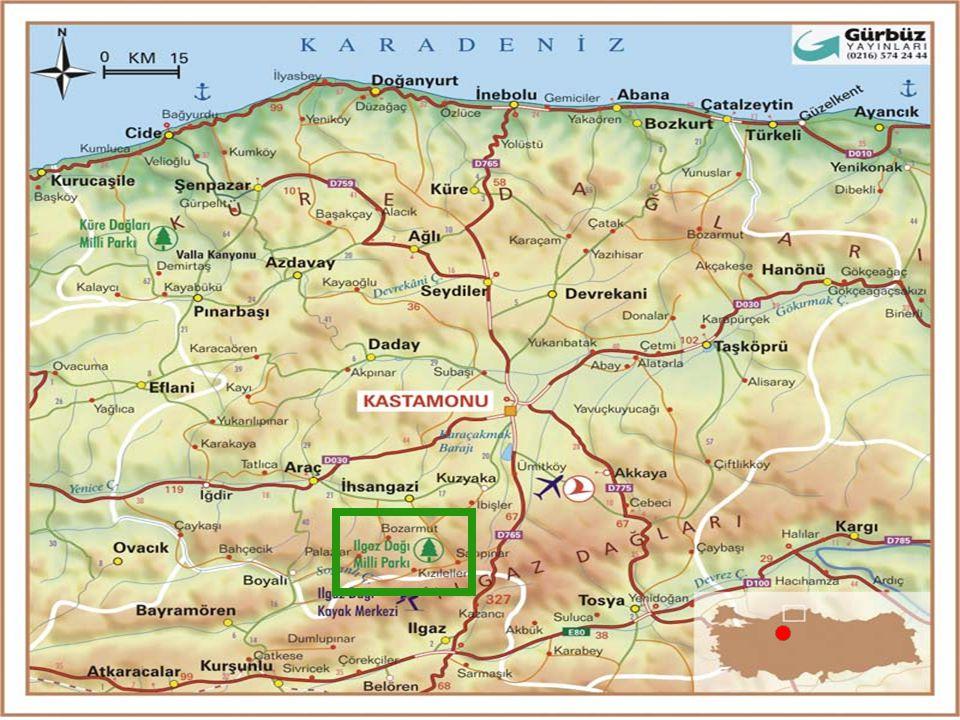 Poloha park: v severní Anatolii, 45 km od Kastamonu a 200 km SV od Ankary založen 1976 plocha: 11 km 2 (1088 ha) v okolí horského masivu Ilgaz (součást Pontského pohoří)  dvojvrchol Buyuk Hlacet (2587 m) a Kucuk Hlacet (2548 m) od 800 m.n.m.