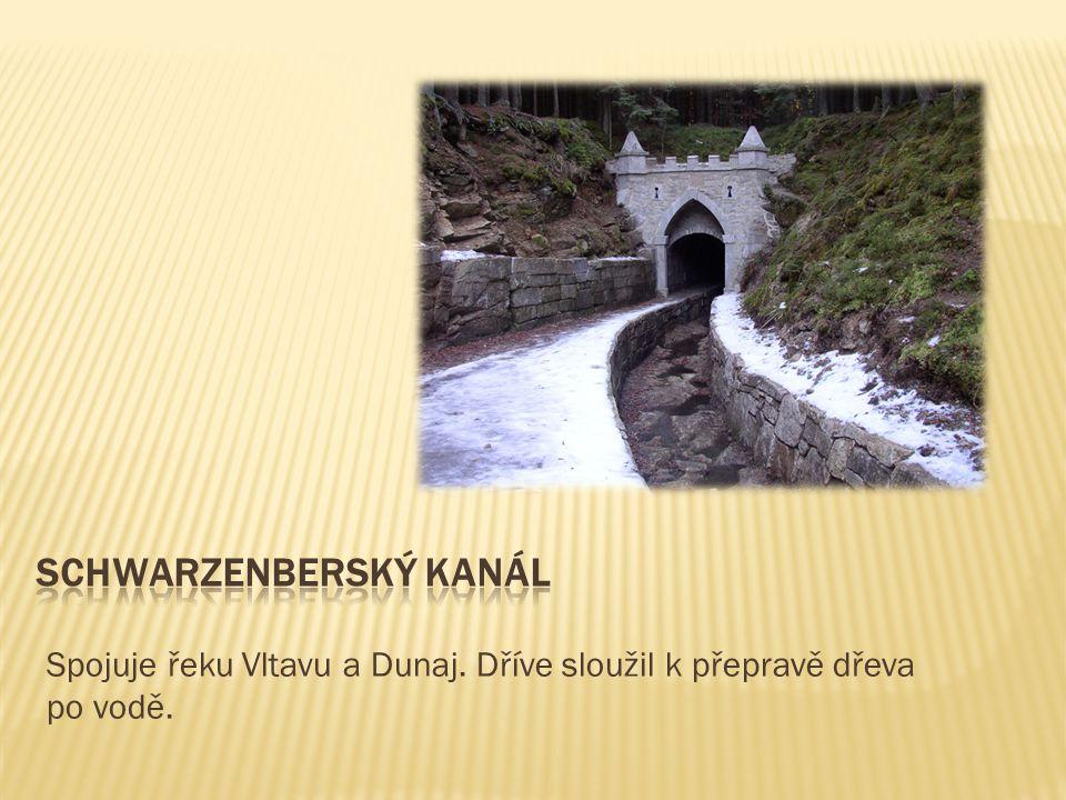 Spojuje řeku Vltavu a Dunaj. Dříve sloužil k přepravě dřeva po vodě.