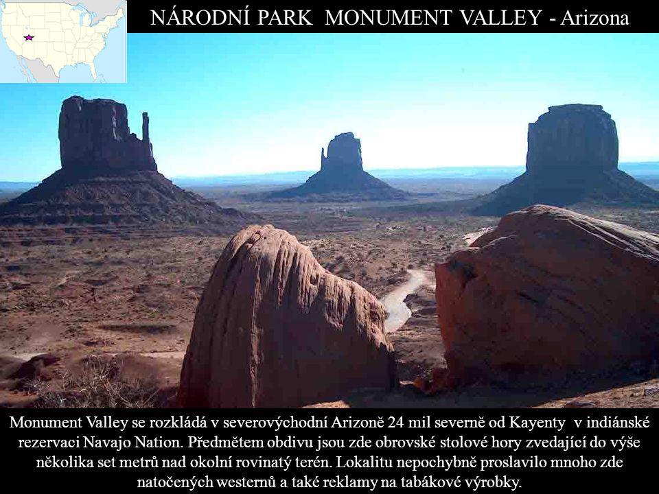 NAVAJO NATIONAL MONUMENT Nacházejí se zde tři neporušená skalní obydlí dávných předků.