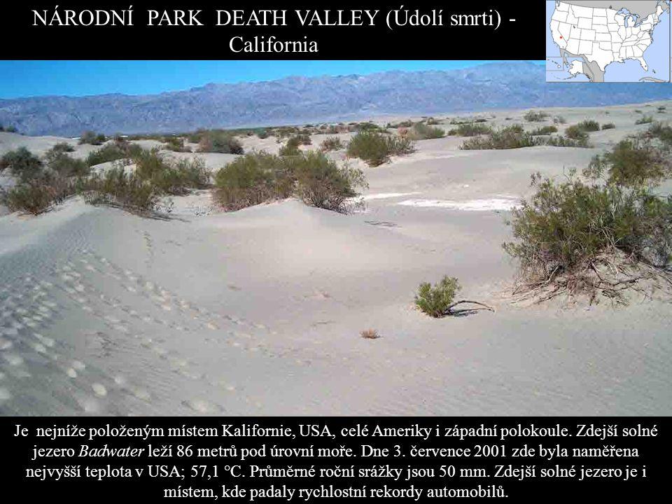 NÁRODNÍ PARK YOSHUA TREE (California) Národním parkem se stal v roce 1994 poté, co Kongres USA schválil zákon 103-433 na ochranu kalifornských pouští.