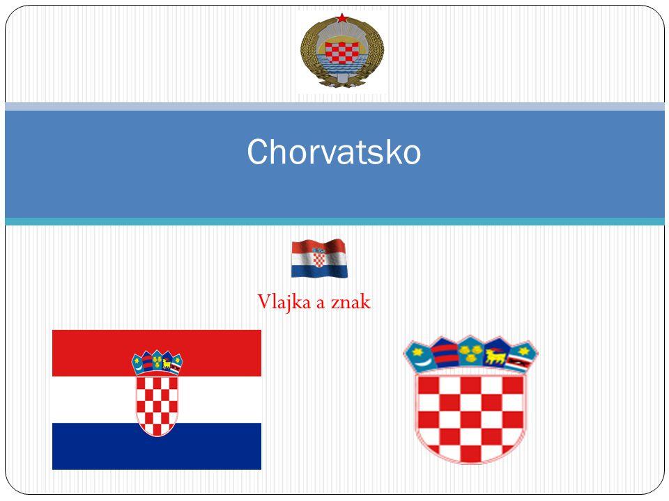Vlajka a znak Chorvatsko