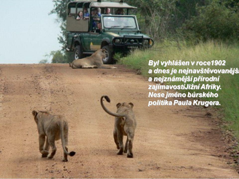 Byl vyhlášen v roce1902 a dnes je nejnavštěvovanější a nejznámější přírodní zajímavostíJižní Afriky.