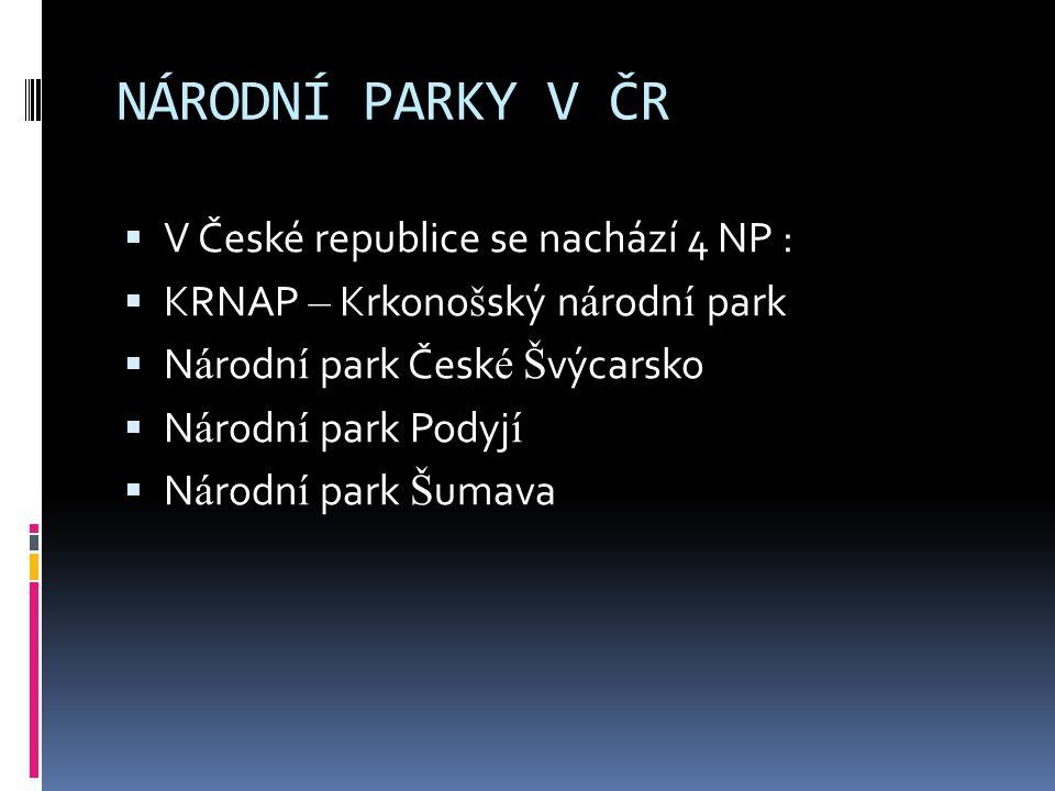  Krkonošský národní park je chráněné území v severní části České republiky.