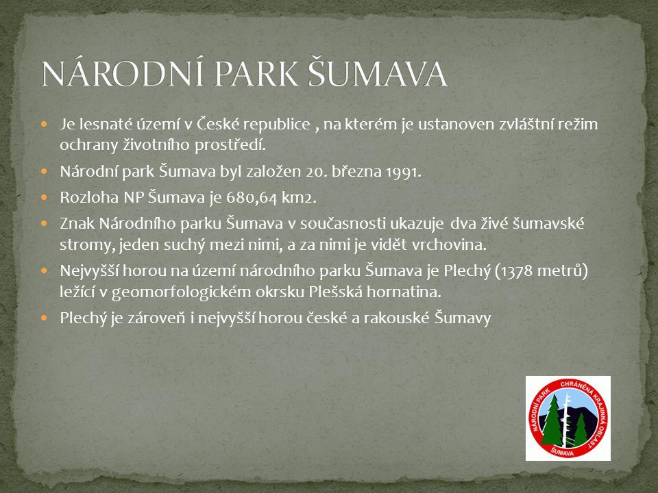 NÁRODNÍ PARK PODYJÍ Je dosud jediným moravským národním parkem.