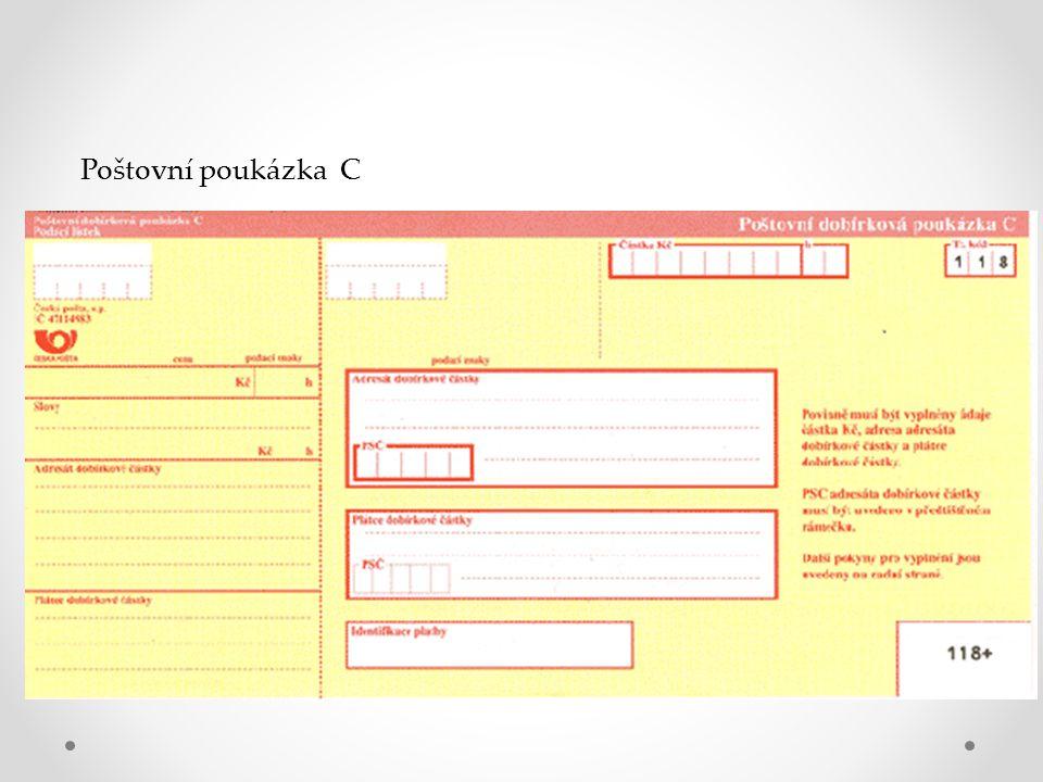 Poštovní poukázka C