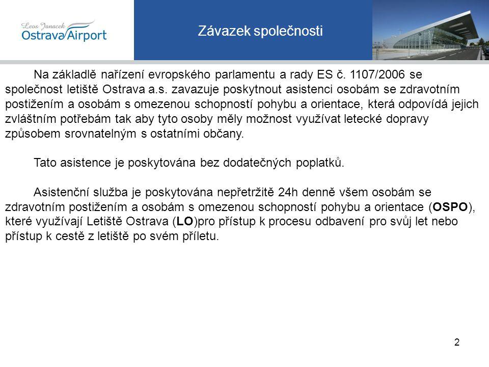 Způsoby sdělení požadavku na asistenci Předem nevyžádaná asistence na odletu – žádáno až po příjezdu na letiště OZP nebo zástupcem CK.