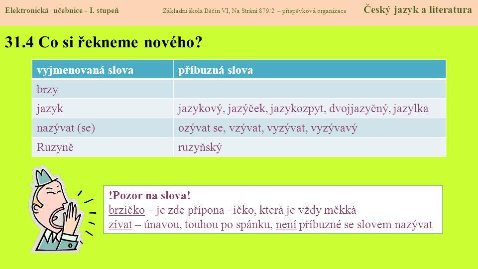 31.5 Procvičení a příklady Elektronická učebnice - I.