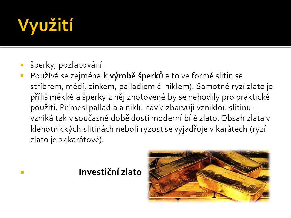  Zlato se využívá i ve sklářském průmyslu k barvení nebo zlacení skla.