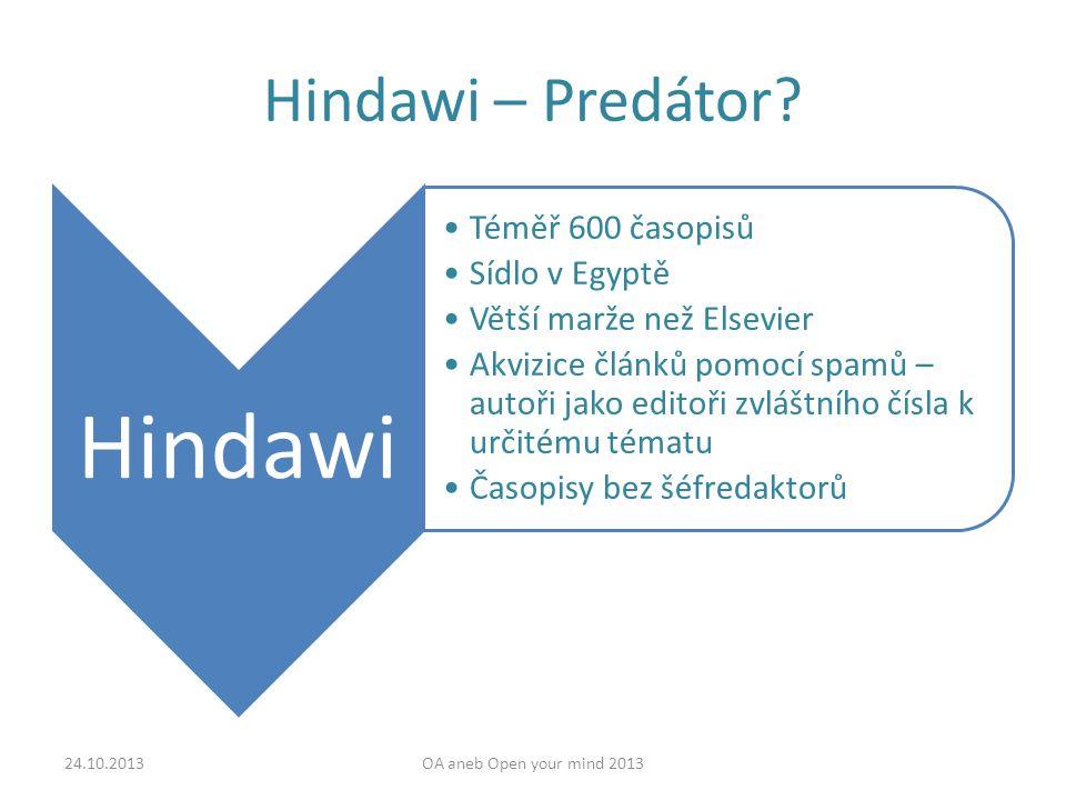Hindawi – Predátor.