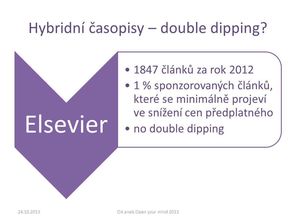 Hybridní časopisy – double dipping.