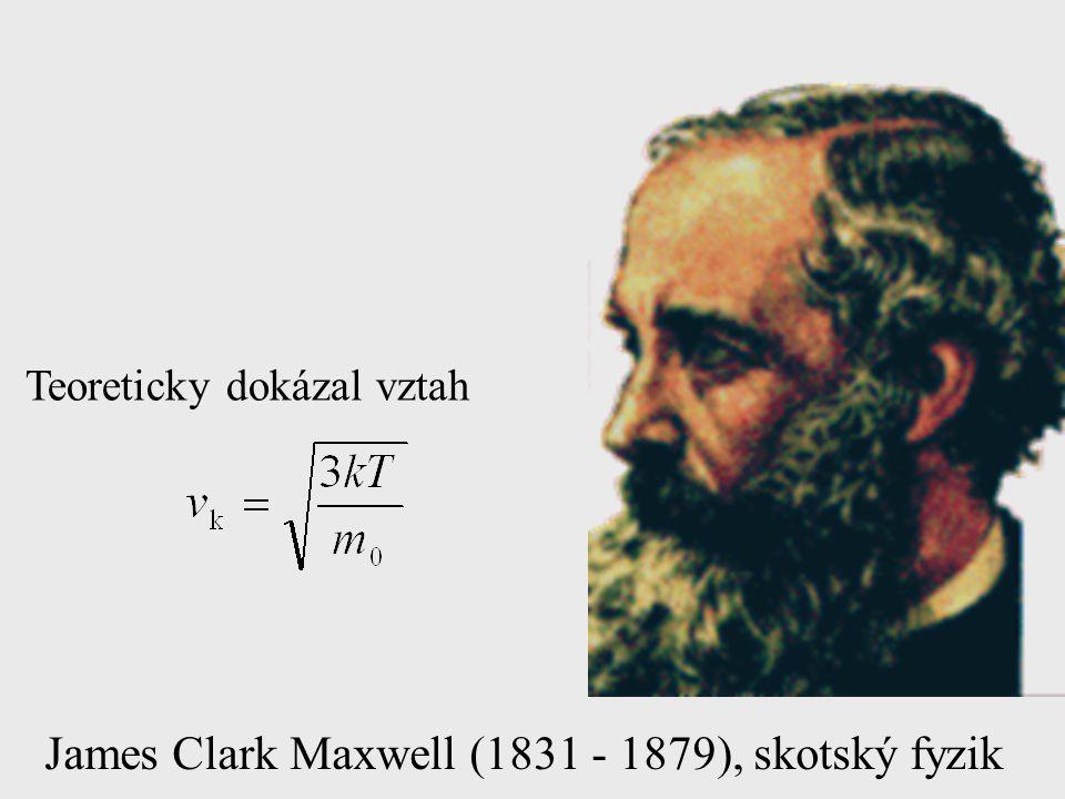 James Clark Maxwell (1831 - 1879), skotský fyzik Teoreticky dokázal vztah
