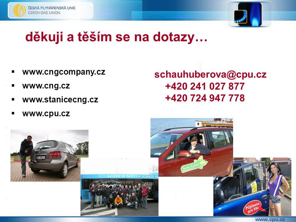 děkuji a těším se na dotazy… schauhuberova@cpu.cz +420 241 027 877 +420 724 947 778  www.cngcompany.cz  www.cng.cz  www.stanicecng.cz  www.cpu.cz