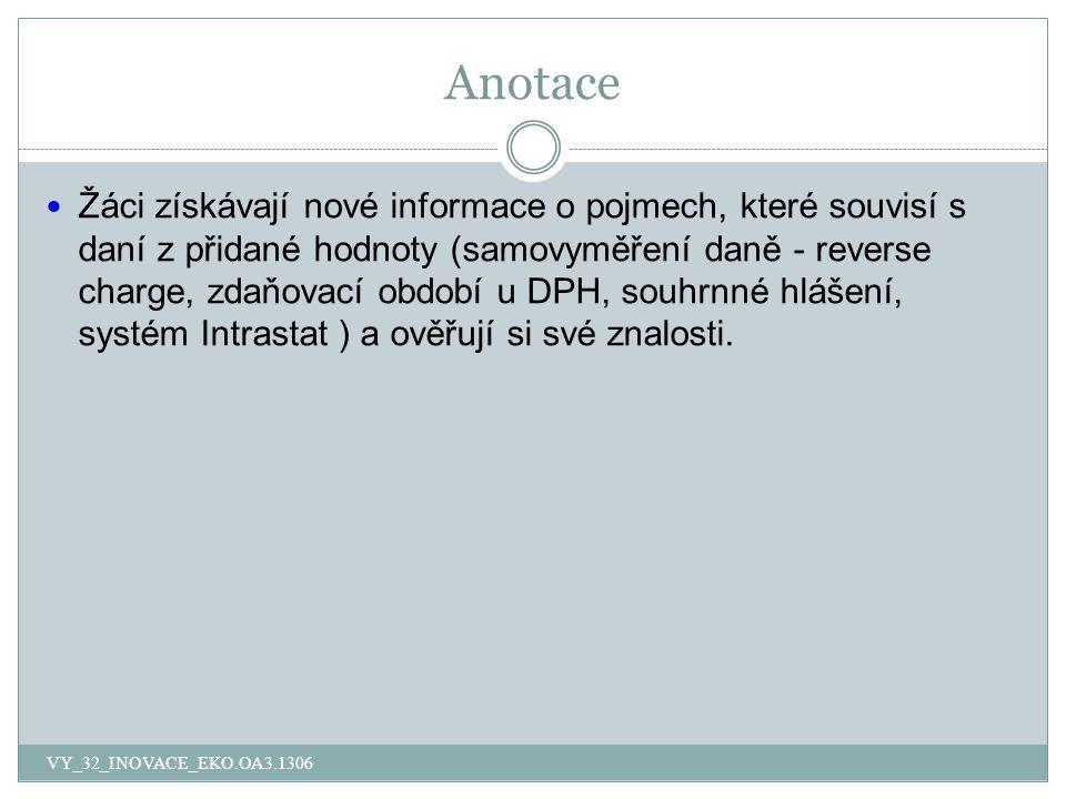 Otázky VY_32_INOVACE_EKO.OA3.1306 1.Co je to reverse charge.