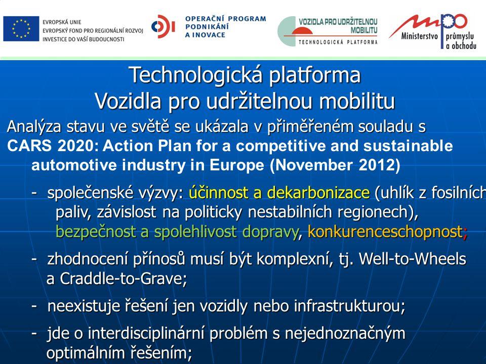 Strategická výzkumná agenda – výzkumné priority po sloučení původních priorit 5 a 6 z SVA Hnací jednotky, Hnací jednotky, Macek ČVUT v Praze Podvozky a karoserie,.