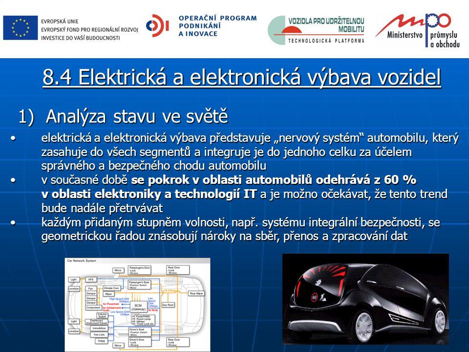 """1) Analýza stavu ve světě elektrická a elektronická výbava představuje """"nervový systém automobilu, který zasahuje do všech segmentů a integruje je do jednoho celku za účelem správného a bezpečného chodu automobiluelektrická a elektronická výbava představuje """"nervový systém automobilu, který zasahuje do všech segmentů a integruje je do jednoho celku za účelem správného a bezpečného chodu automobilu v současné době se pokrok v oblasti automobilů odehrává z 60 % v oblasti elektroniky a technologií IT a je možno očekávat, že tento trend bude nadále přetrvávatv současné době se pokrok v oblasti automobilů odehrává z 60 % v oblasti elektroniky a technologií IT a je možno očekávat, že tento trend bude nadále přetrvávat každým přidaným stupněm volnosti, např."""