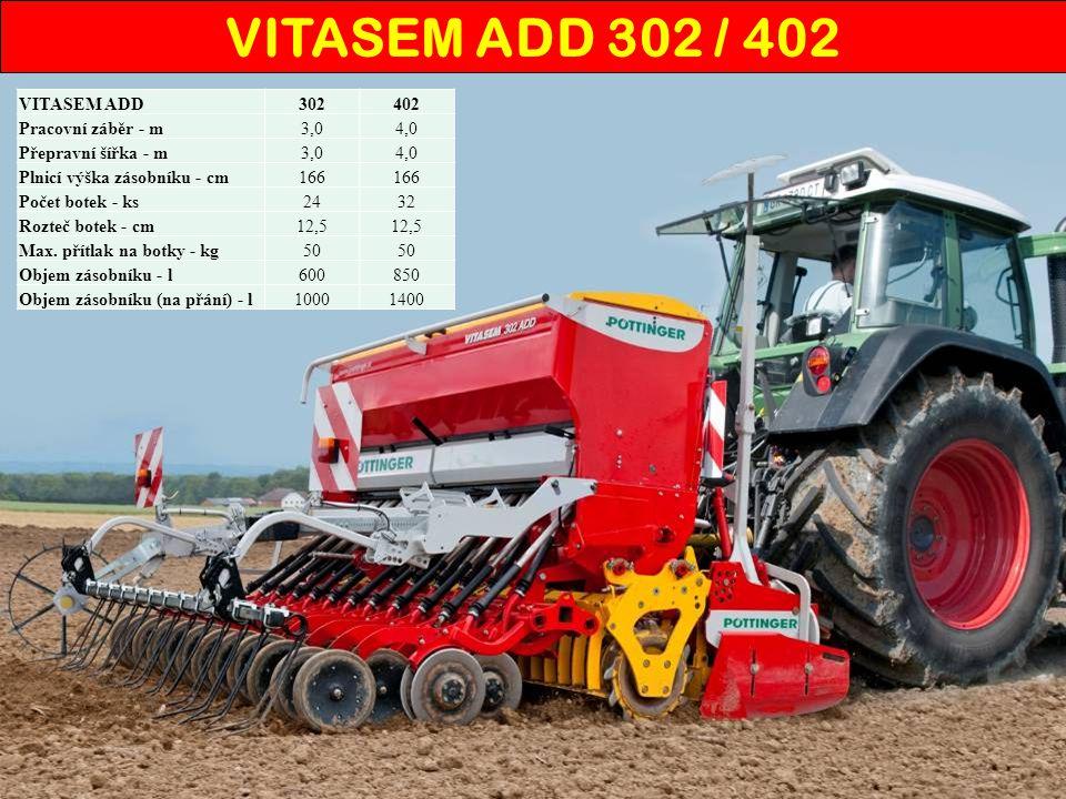 Mechanické secí stroje s botkou DualDisc VITASEM ADD 302 / 402