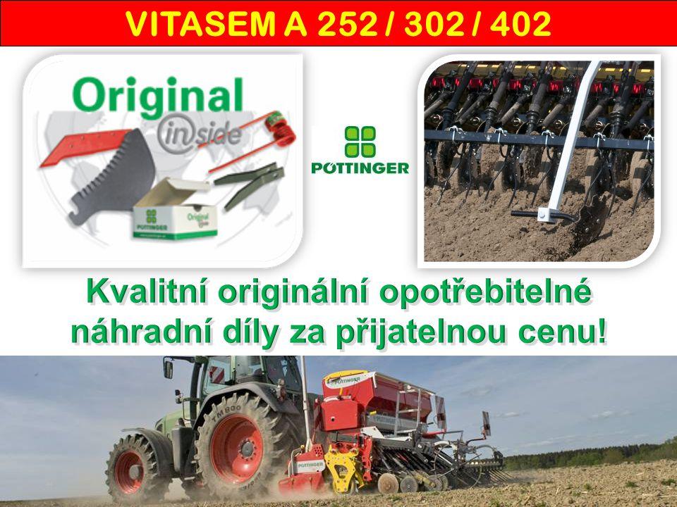 VITASEM ADD – zásobník, volitelná výbava Zásobník osiva  Výška plnění 1,66 m.
