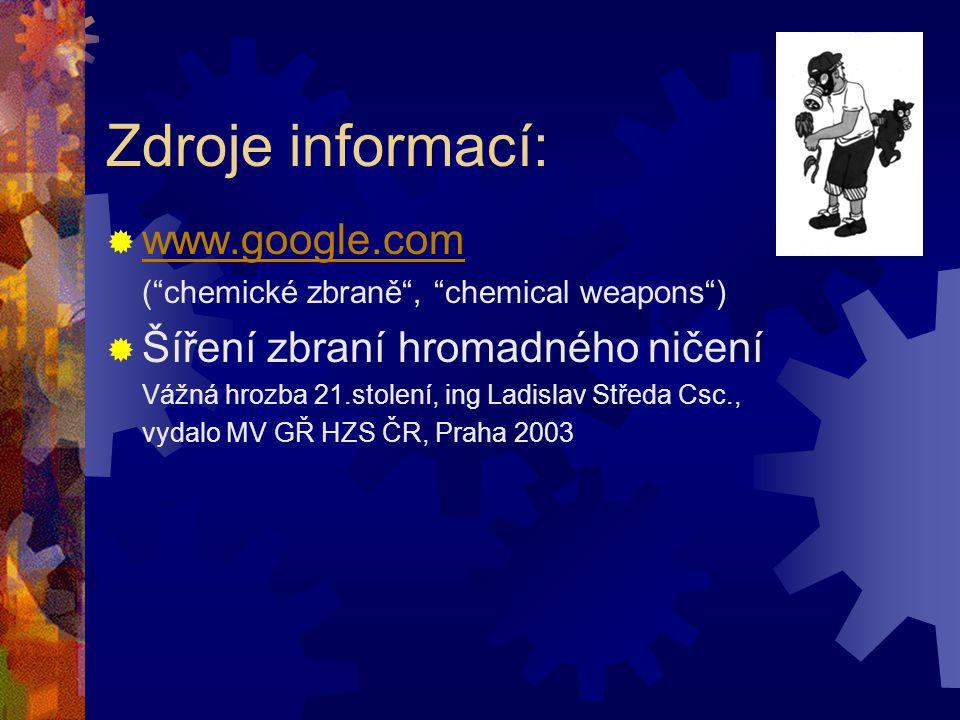 KONEC Děkujeme za pozornost a doufáme, že se Vám naše pojetí chemických zbraní líbilo