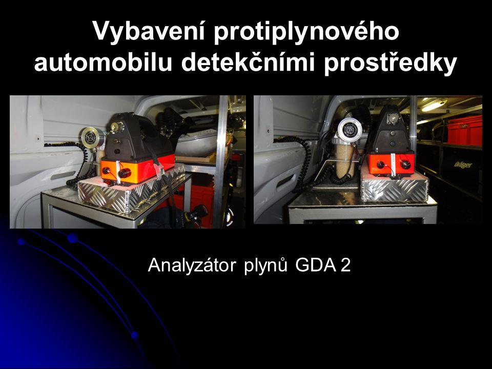 Vybavení protiplynového automobilu detekčními prostředky Analyzátor plynů GDA 2