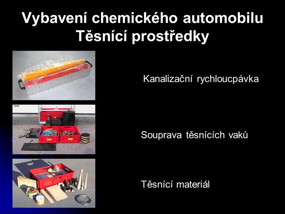 Vybavení chemického automobilu Těsnící prostředky Kanalizační rychloucpávka Souprava těsnících vaků Těsnící materiál