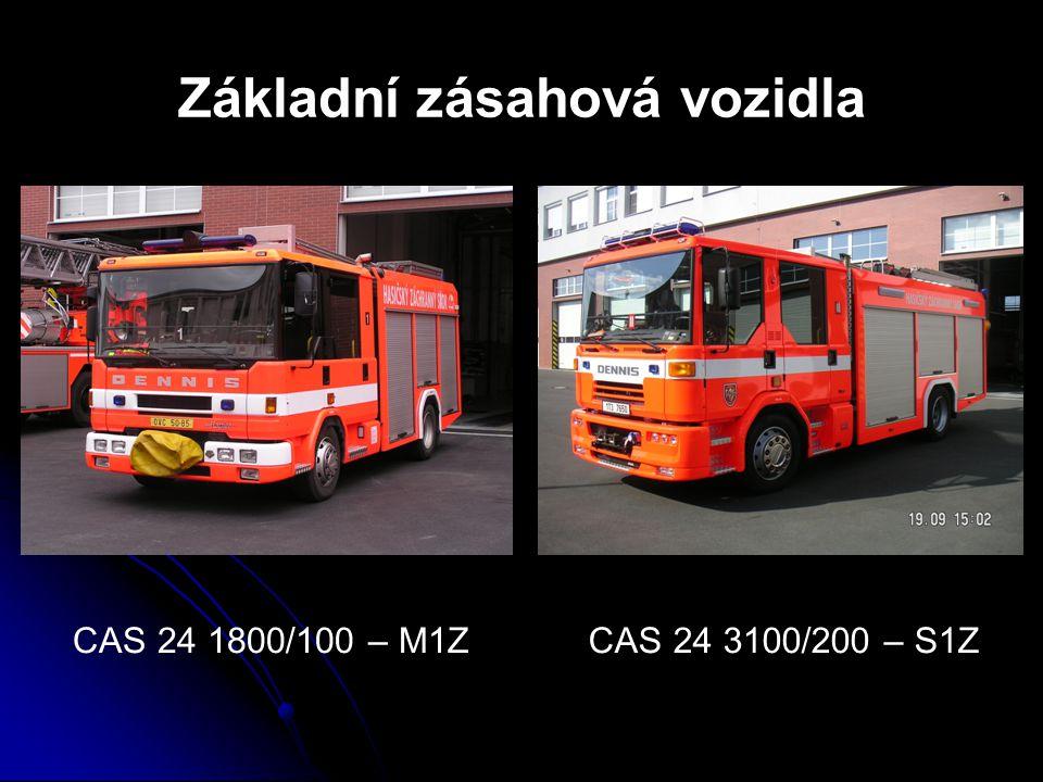 Základní zásahová vozidla CAS 24 1800/100 – M1ZCAS 24 3100/200 – S1Z