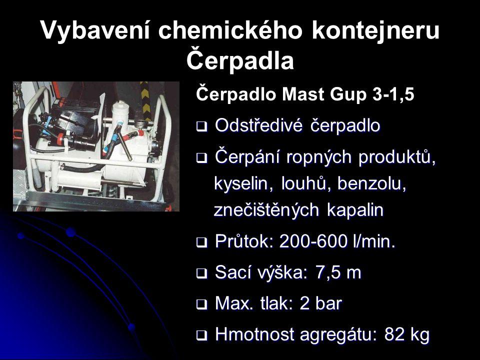 Vybavení chemického kontejneru Čerpadla Čerpadlo Mast Gup 3-1,5  Odstředivé čerpadlo  Čerpání ropných produktů, kyselin, louhů, benzolu, znečištěnýc