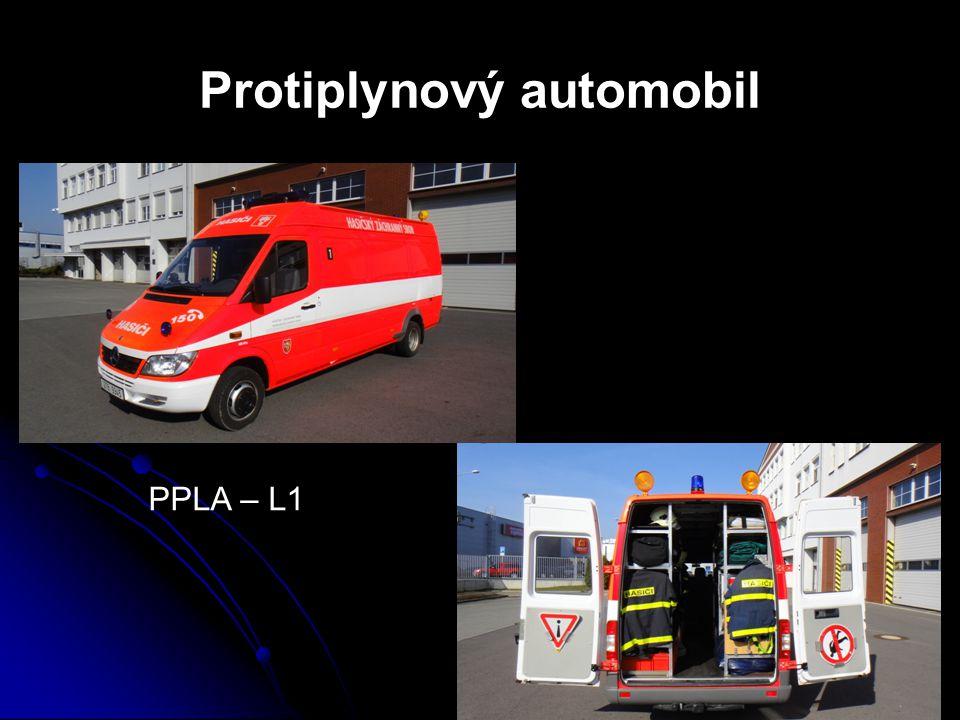 Vybavení protiplynového automobilu detekčními prostředky  Základní prostředky a měřící přístroje pro detekci nebezpečných látek – detekční trubice, pH papírky apod.
