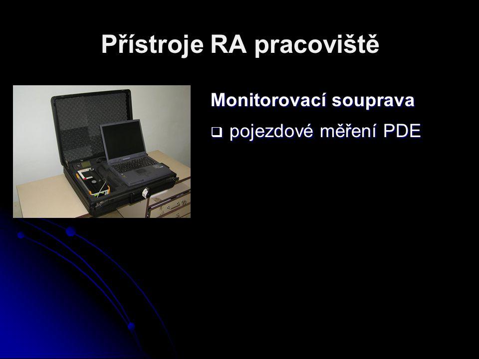 Přístroje RA pracoviště Monitorovací souprava  pojezdové měření PDE