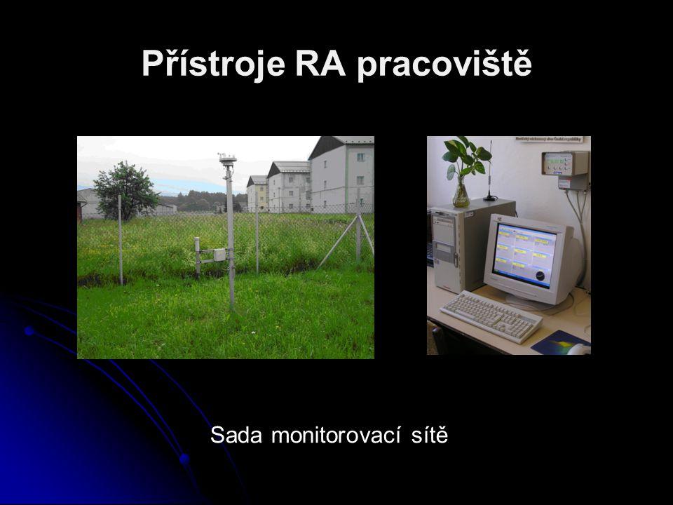 Přístroje RA pracoviště Sada monitorovací sítě