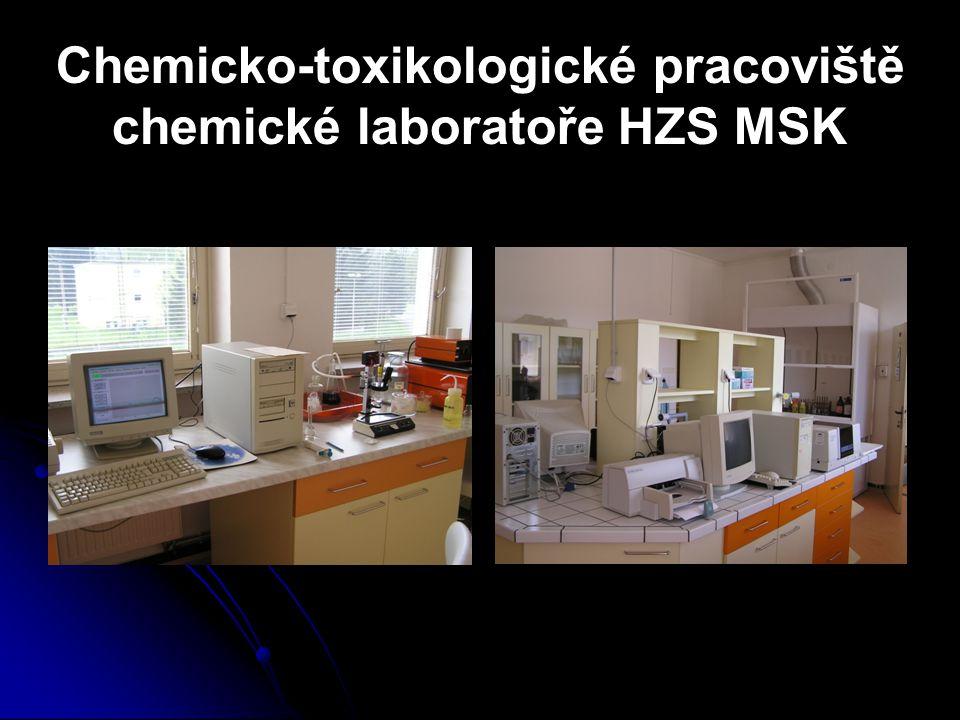Chemicko-toxikologické pracoviště chemické laboratoře HZS MSK