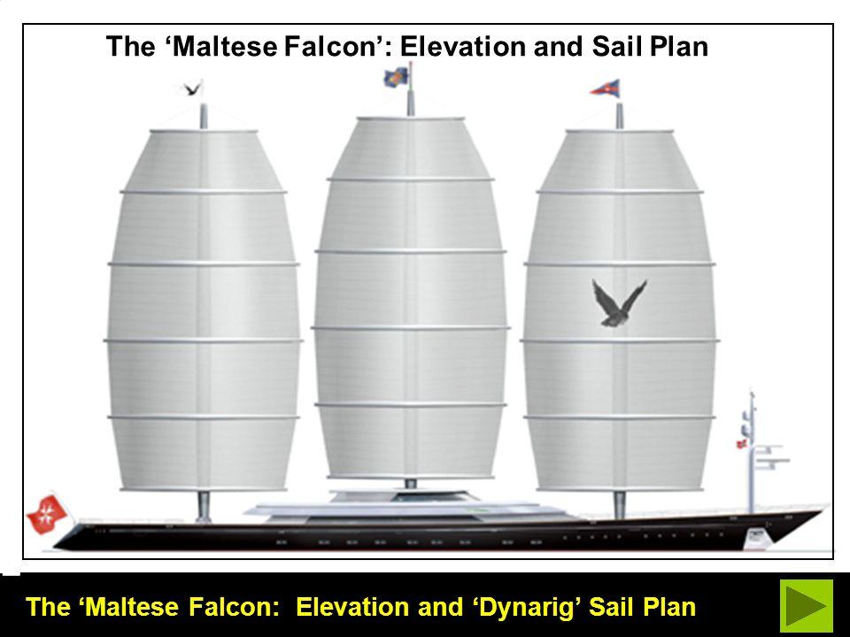 The 'Maltese Falcon: Elevation and 'Dynarig' Sail Plan The 'Maltese Falcon': Elevation and Sail Plan