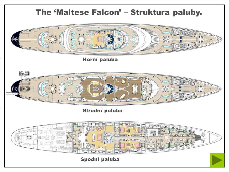 Spodní palubaStřední paluba Horní paluba The 'Maltese Falcon' – Struktura paluby.