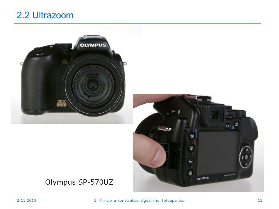 2.11.20102. Princip a konstrukce digitálního fotoaparátu12 2.2 Ultrazoom Olympus SP-570UZ