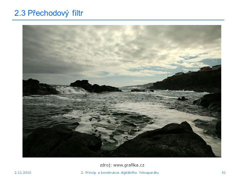 2.11.20102. Princip a konstrukce digitálního fotoaparátu51 2.3 Přechodový filtr zdroj: www.grafika.cz
