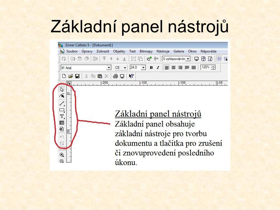 Standardní panel nástrojů