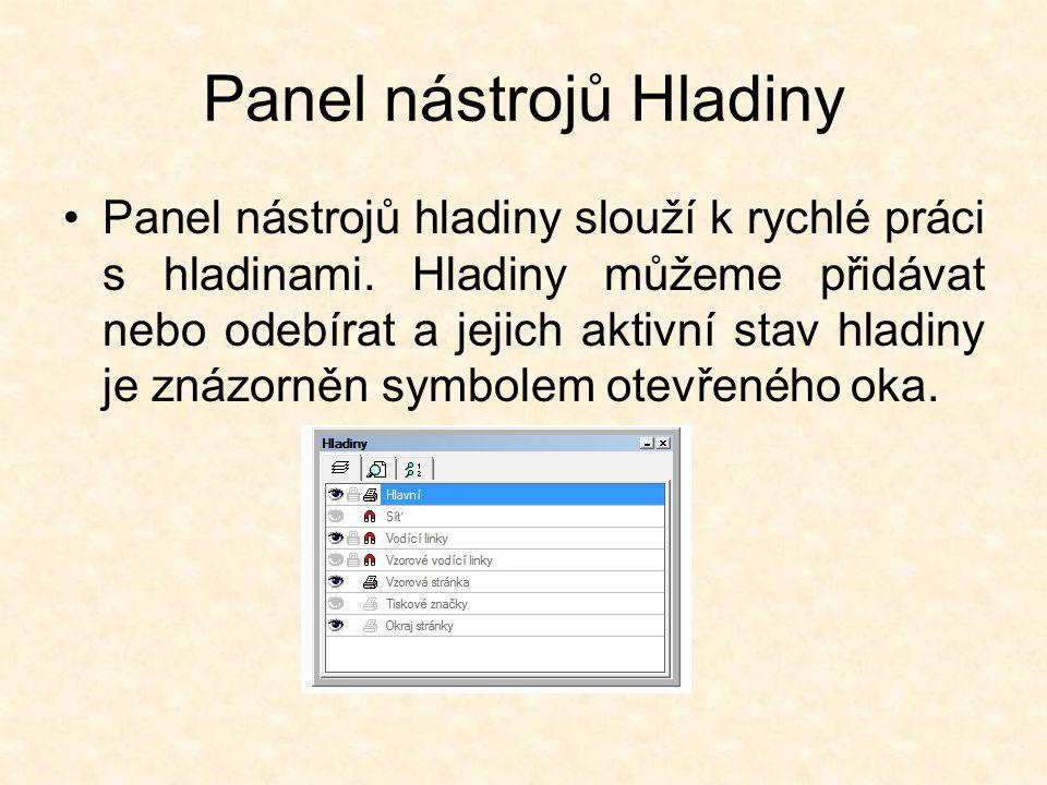 Panel nástrojů Text Vlastnosti písma lze nastavit v panelu nástrojů text, a to i při aktivním výběrovém nástroji.