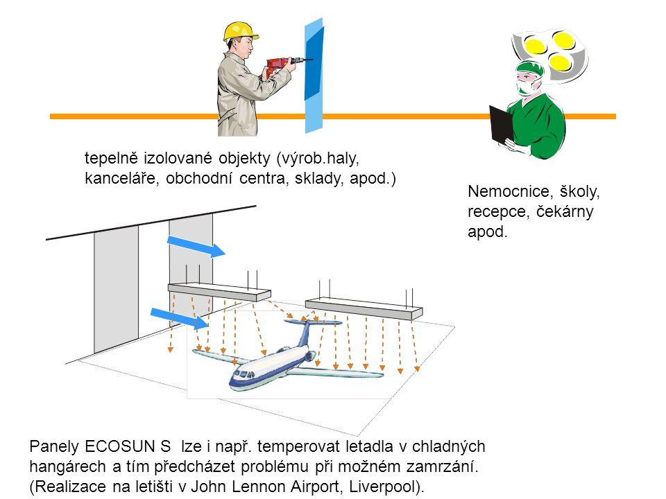 Sálavé panely ECOSUN řeší problém i např.separovaných chladných míst a a izolovaného pracovního prostředí. Šetrný způsob vytápění bez vysušování vzduc