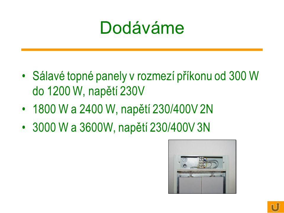 Vysokoteplotní panely ECOSUN S Montáž panelů je možná přímo na strop pomocí připevňovacího montážního rámu (součást dodávky), nebo zavěšením na lanka