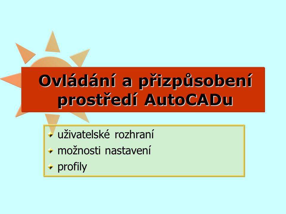 OVLÁDÁNÍ PROSTŘEDÍ karty, panely, tlačítka, zkratky Systémy CAD, Helena Novotná, jaro 20142
