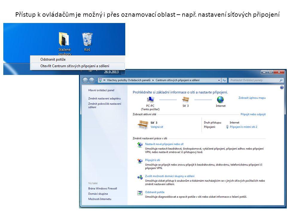 Další informace: http://support.microsoft.com/kb/835644/cs http://en.wikipedia.org/wiki/List_of_Control_Panel_applets_(Windows)