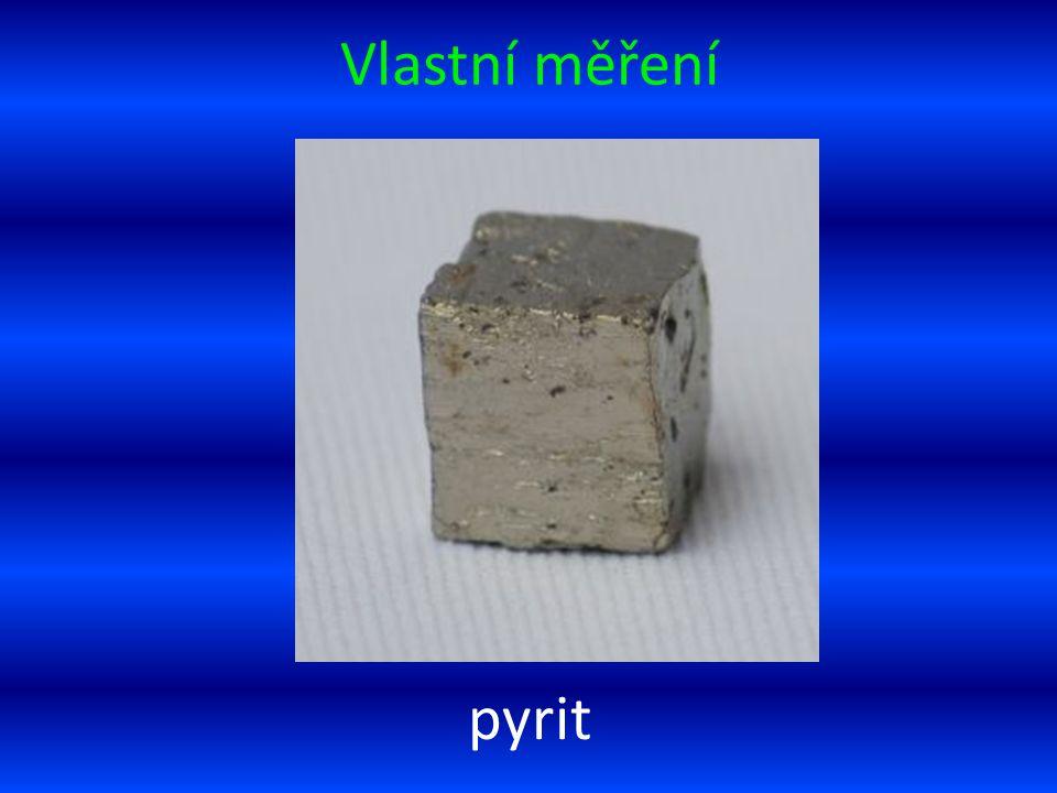 Vlastní měření pyrit