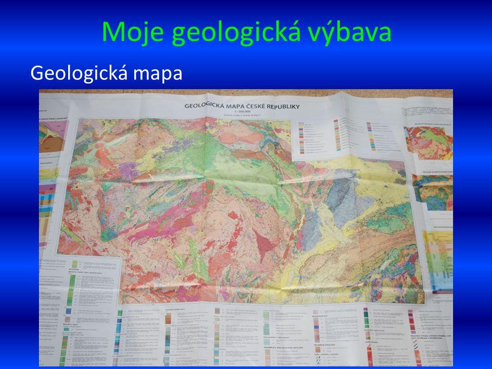 Moje geologická výbava Geologická mapa