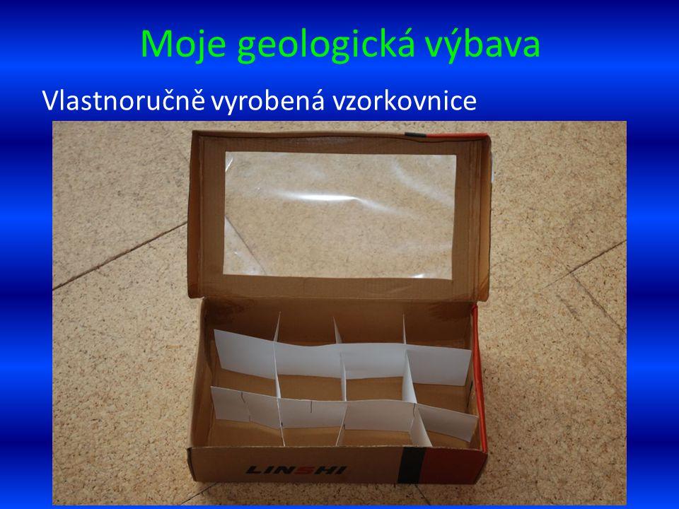 Moje geologická výbava Vlastnoručně vyrobená vzorkovnice