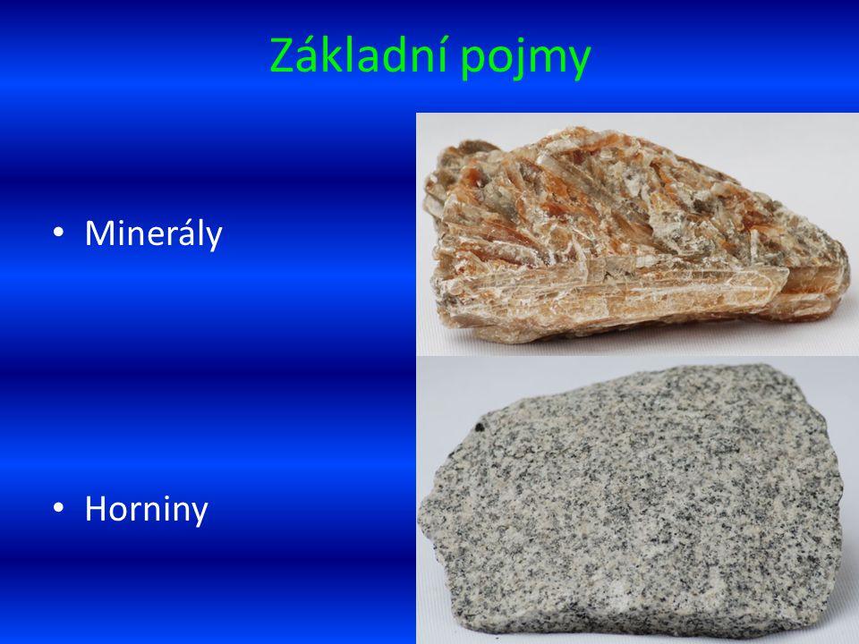 Základní pojmy Minerály Horniny