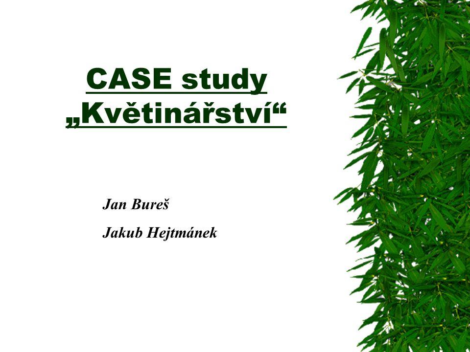 """CASE study """"Květinářství"""" Jan Bureš Jakub Hejtmánek"""