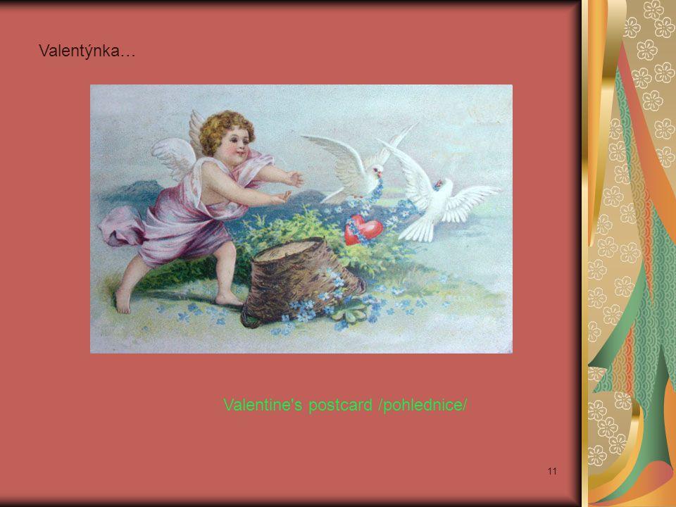Valentine's postcard /pohlednice/ Valentýnka… 11