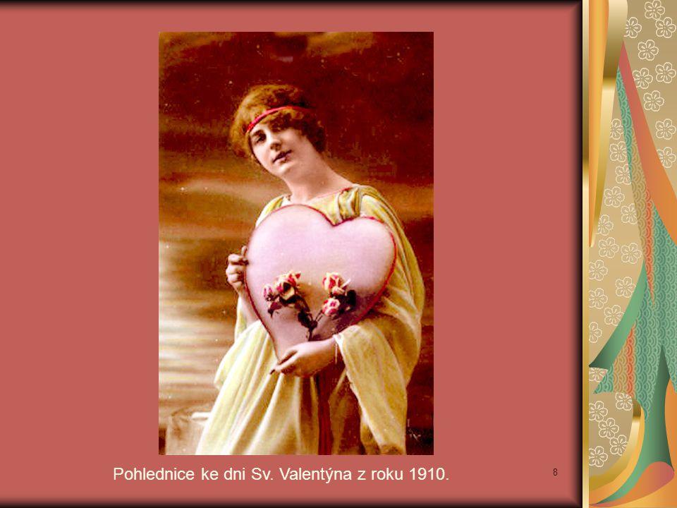 Pohlednice ke dni Sv. Valentýna z roku 1910. 8