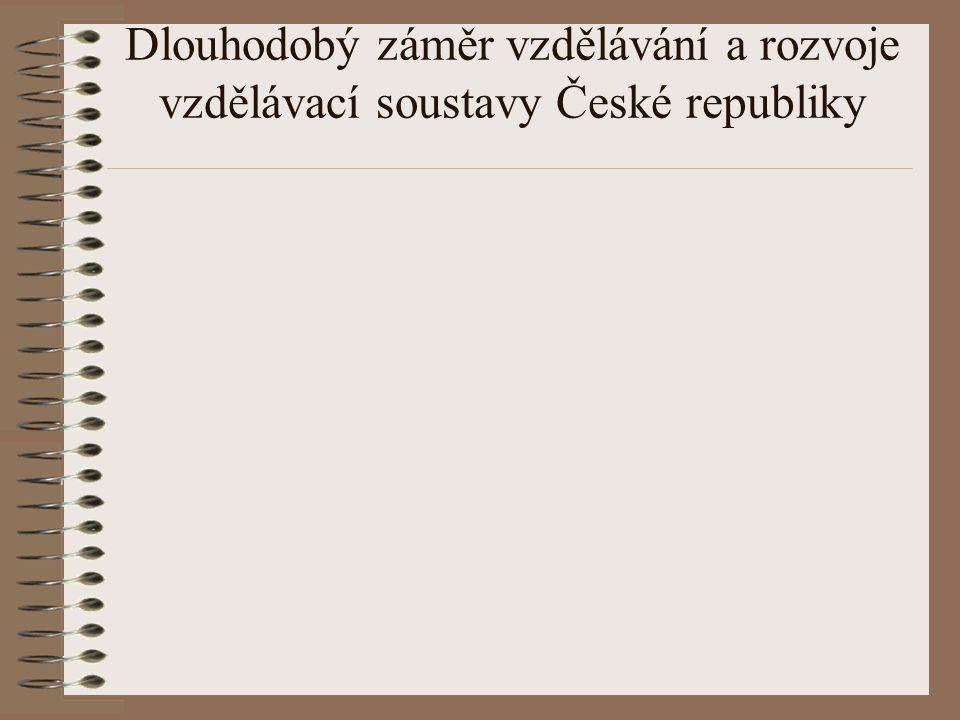 Dlouhodobý záměr vzdělávání a rozvoje vzdělávací soustavy České republiky