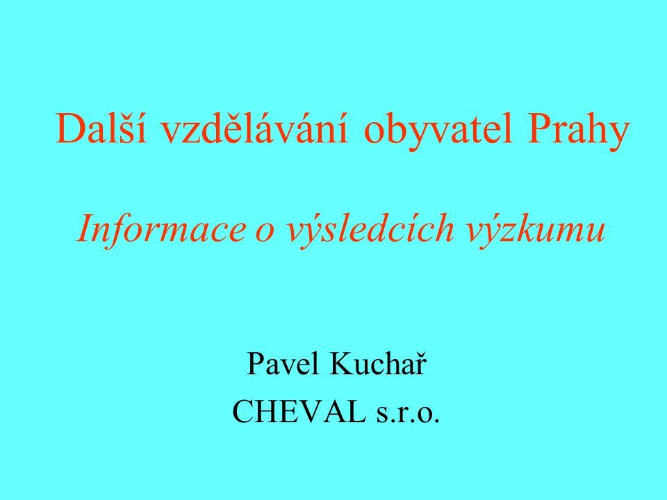 Další vzdělávání obyvatel Prahy Informace o výsledcích výzkumu Pavel Kuchař CHEVAL s.r.o.